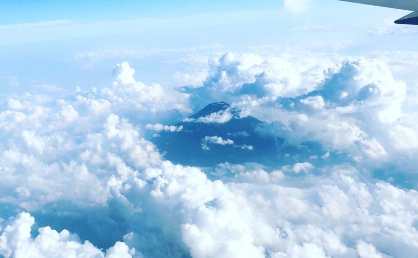 夏の雲と、富士山と。